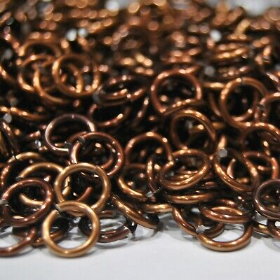 BLACK Anodized Aluminum JUMP RINGS 300 1//4 16g SAW CUT Chainmail chain mail