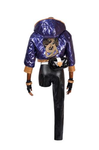 Halloween Jeux populaires LOL Cosplay Costume kDa Akali Costume personnaliser Set Complet