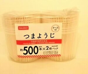 DAISO-1000pcs-Japan-Wooden-Wood-Oral-Dental-Fancy-Carved-End-Tooth-Picks