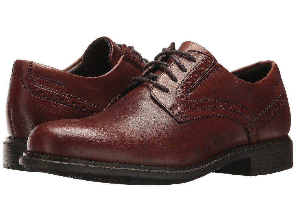Rockport Men's Total Motion US 11 M Brown Leather Classic Oxfords Shoes $150.00