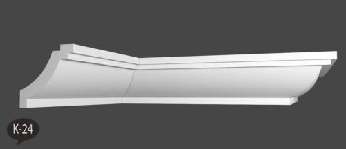 40 m+4 Ecken Styroporleisten Eckleisten Stuckleisten Zierleisten 55x55 mm K 24
