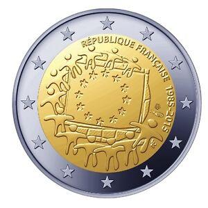 FRANCE-2-Euros-30-ans-du-Drapeau-Europeen-2015-UNC