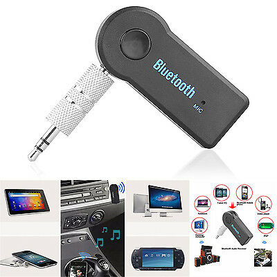 Wireless Bluetooth 3.5MM AUX IN Audio Stereo Music MP3 Car Receiver Adapter A2DP