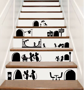 Mouse House sticker decals for skirting boards fun and novelty