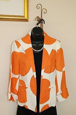 3 Sisters Jacket 3S962 Clothing S (4-6) Sphere Orange Women's  Coat 13325