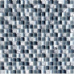 glassteinmosaik grau stahlblau 15 fliesen mosaik bad granit kiesel sanit r ebay. Black Bedroom Furniture Sets. Home Design Ideas
