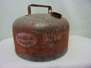 Eagle Gas Can Galvanized Vintage Rusted Country USA Made 1.8 Gal