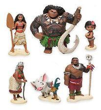 Moana Maui Hei Hei Playset 6 Figure Cake Topper *FAST SHIPPING* Toy Doll Set