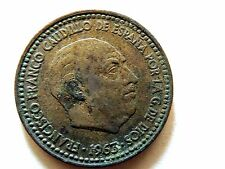 1963 Spanish One (1) Peseta Coin Star 63