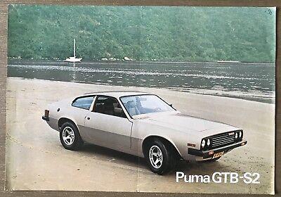 1980 Puma GTB-S2 original Brazilian sales brochure.   eBay