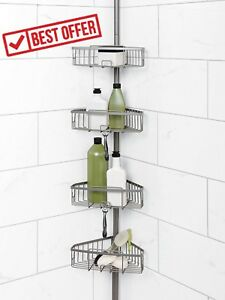 Image Is Loading Corner Shower Caddy Bath Shelf Organizer Bathroom Toiletry