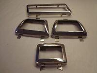 71-72 Mopar B Body Road Runner Charger 4 Speed Stainless Steel Pedal Bezels
