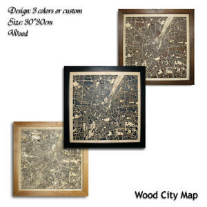 Wood-City-Map-Munchen-Germany-Decor-Picture-Town-Village-Laser-Cut-Wall-Art