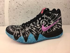 5beb4606771 2018 Nike Kyrie 4 ASG All Star AQ8623-001 Black White Blue Tie Dye ...