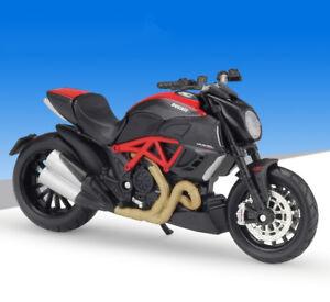 Maisto 1:18 Ducati Diavel Carbon Motorcycle Bike Model Black New |