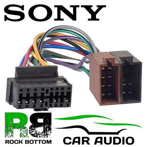 s l300 sony cdx gt25 car radio stereo 16 pin wiring harness loom iso lead sony cdx gt650ui wiring harness at bakdesigns.co