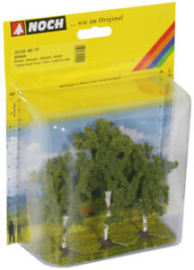 NOCH-25120-Gauge-H0-Tt-Birches-3-Piece-8-And-10cm-High-New-IN-Boxed