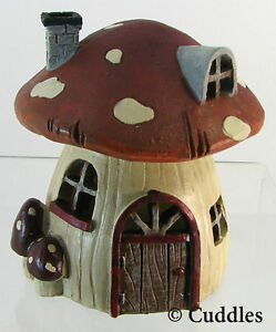 Image Is Loading Fairy Garden Mushroom House Windows Doors Cottage Light