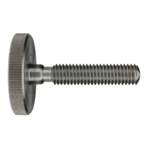 Stahl blank 10 x DIN 653 Rändelschrauben niedrige Form M 4 x 10