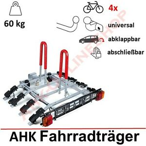 fahrradtr ger anh ngerkupplung f r 4 fahrr der hecktr ger ahk fahrradhecktr ger ebay. Black Bedroom Furniture Sets. Home Design Ideas