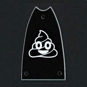 Analytique Gravé Gravé Guitare Truss Rod Cover Epiphone Casino-poop Poo Emoji-noir-afficher Le Titre D'origine Couleurs Harmonieuses