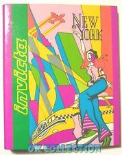 QUADERNO AD ANELLI VINTAGE A5 _ INVICTA NEW YORK anni '80 (preppy paninaro)