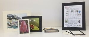 """8.5""""x11"""" Black Photo Mounting Boards Adhesive Coated with Easel Backs"""