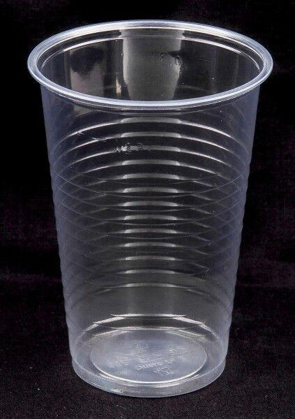 100 Trinkbecher Ausschankbecher Plastikbecher transparent 0,3 Liter 300ml Becher