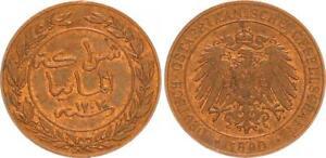 Deutsch-Ostafrika, 1 Pesa 1890 , Doa (6) Recién Acuñado, Pequeño Manchas 46630