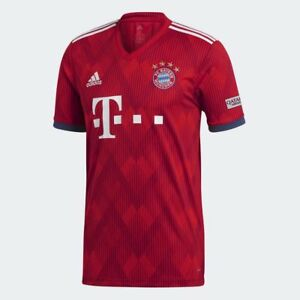 4829bdc23 adidas FC Bayern Munich Official 2018 2019 Home Soccer Football ...