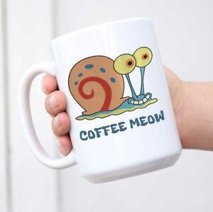 Gary the Snail Mug Funny Coffee Mug White Novelty Mug