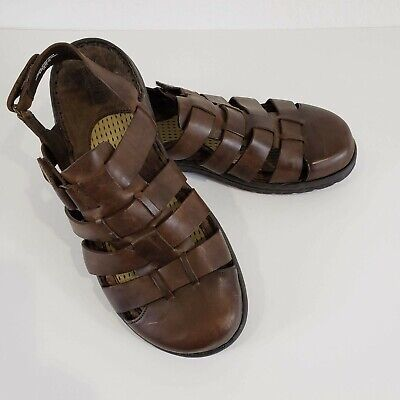 Born Men's Brown Leather Fisherman's Sandals Size 9   eBay