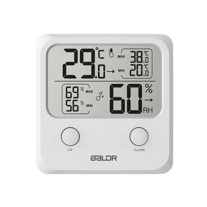 Indoor Digital LCD Thermometer Hygrometer Temperature Wall Humidity Gauge Meter