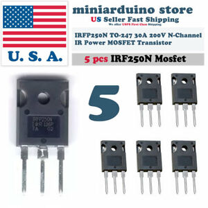 5pcs-IRFP250N-IRFP250-Power-MOSFET-N-Channel-Transistor-30A-200V-TO-247