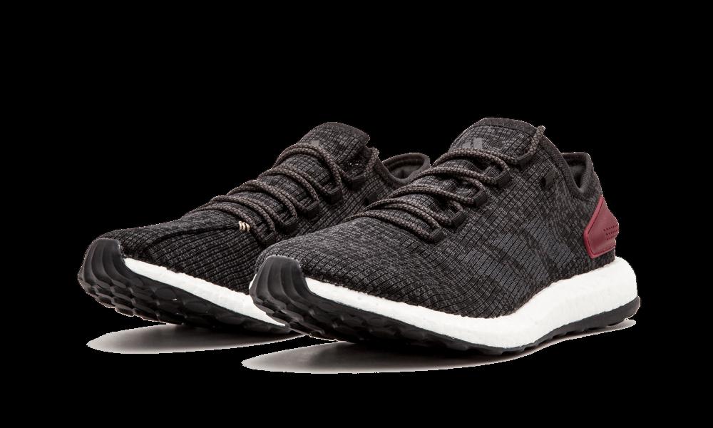 Herren Adidas Pureboost Turnschuhe Braune Schwarz Grau BA8889 UK 8.5 Eu 42.5