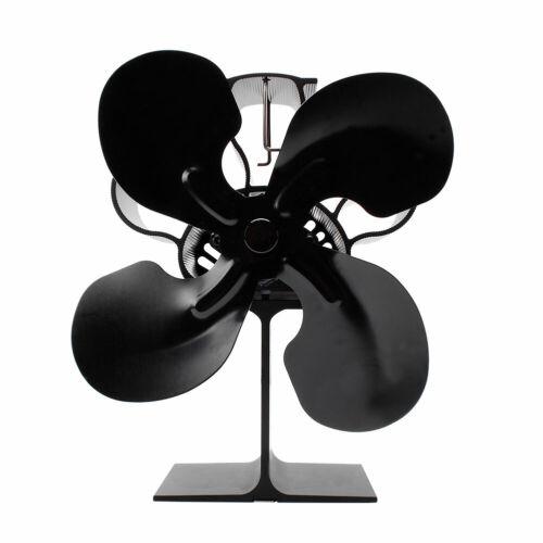 4 Flügel Stromloser Kaminventilator Gebläse Stove Fan Ventilator Holzofen Mit DE