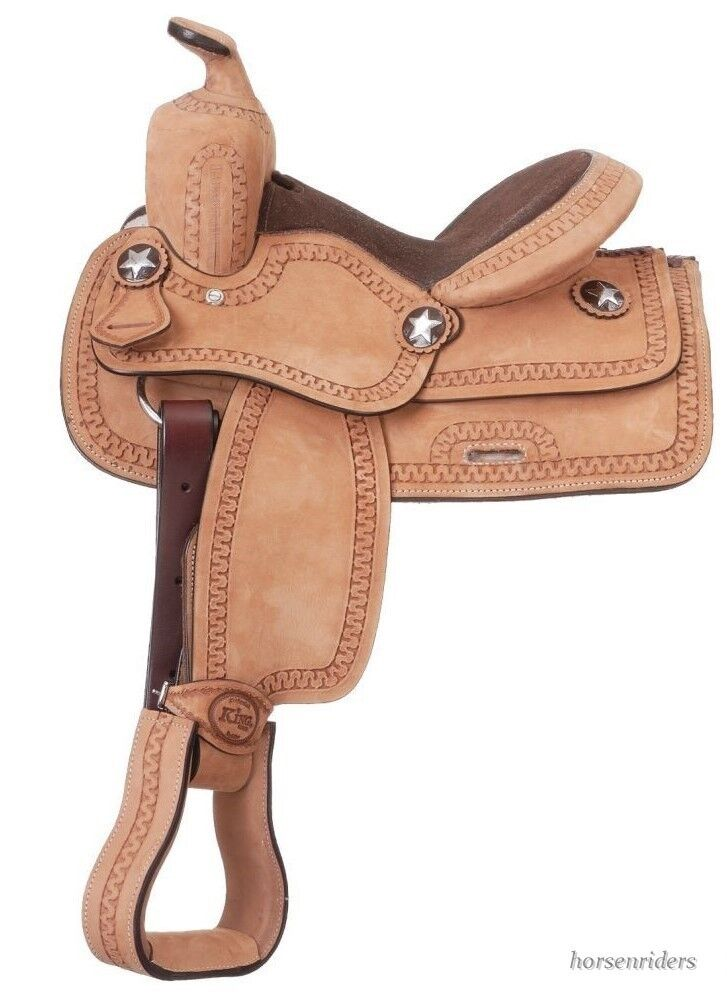 11 Inch Western Saddle - Youth -  Roughout Leather - Suede Seat