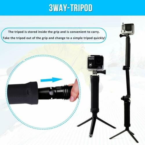 3-Way Monopod Arm Mount stand tripod Bracket Handheld Grip for Sony Action Cam