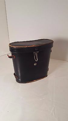 Vintage Black Leather Binocular Case Only Red Velvet Lined Japan Good For Energy And The Spleen Binocular Cases & Accessories Binoculars & Telescopes