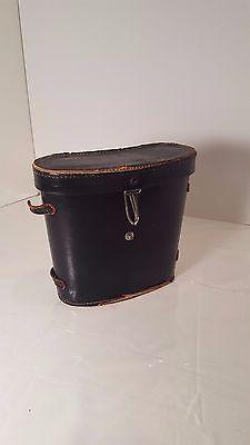 Binocular Cases & Accessories Vintage Black Leather Binocular Case Only Red Velvet Lined Japan Good For Energy And The Spleen