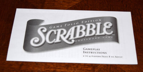 Scrabble Game Folio Travel Edition Replacement Pieces /& Parts Snap Tiles