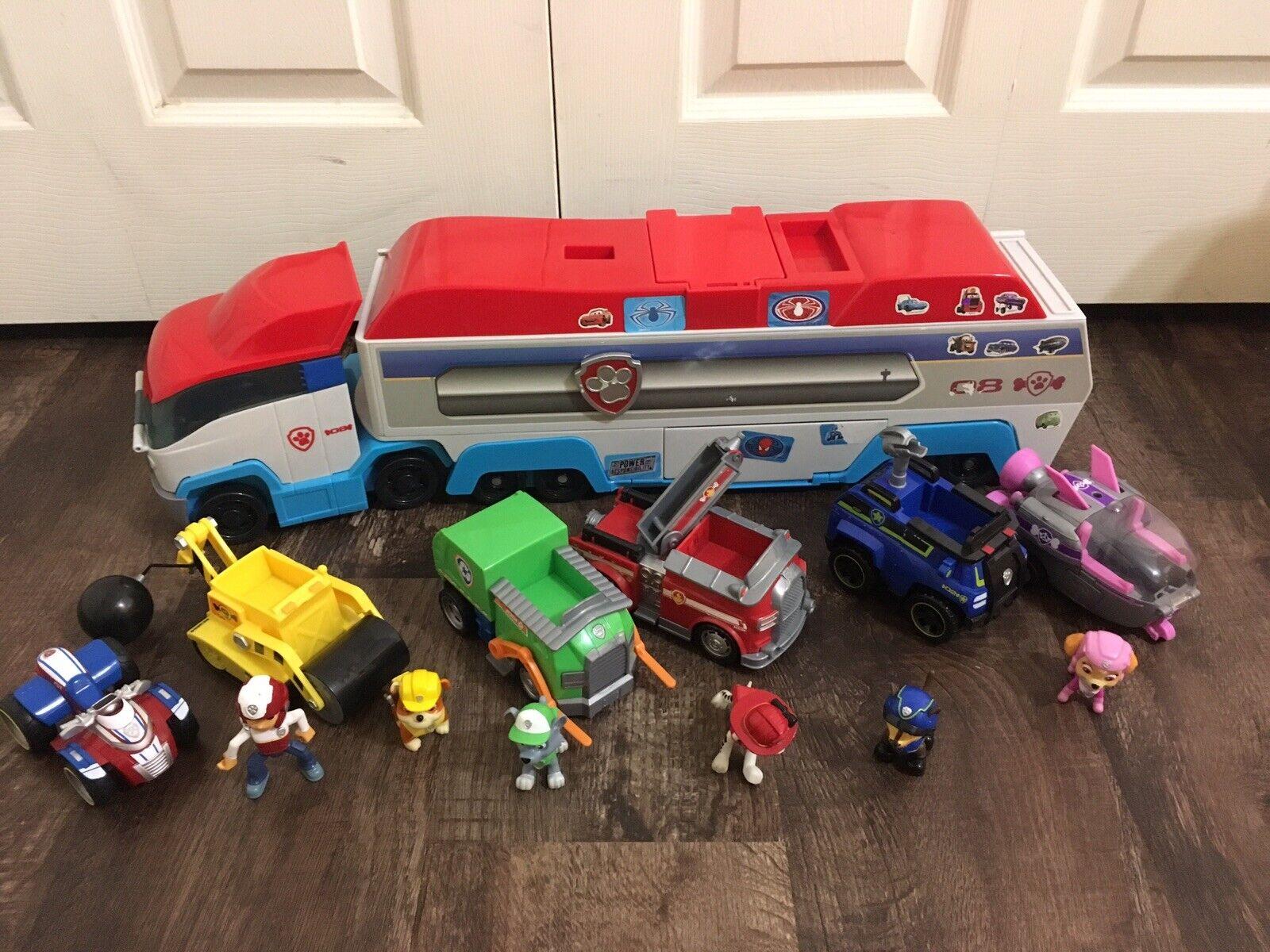 PAW PATROL Bus PATROLLER Transport figuras y vehículos Ryder enorme lote