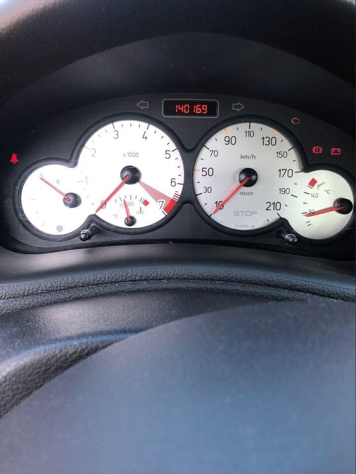 Peugeot 206, 1,6 S16, Benzin
