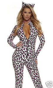 Sexy-Forplay-Foxy-Feline-Leopard-Catsuit-Jumpsuit-Costume-2pc-Set-553725