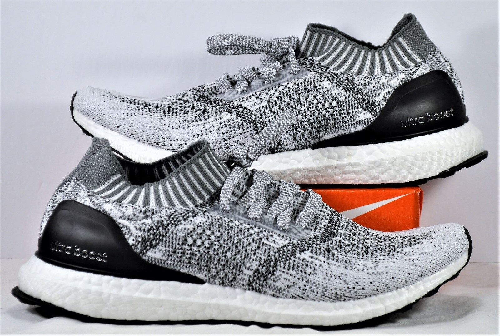 Adidas Ultra Boost Uncaged Black & White Grey Oreo Running Shoe Sz 9 NEW CG4095