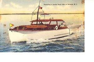 Details about Belmar, NJ Wooden Cabin Cruiser 1940s