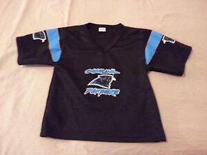 fb873321e Boys Franklin Carolina Panthers Jersey Shirt S Small Black Athletic ...