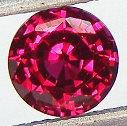PIGEON BLOOD RED RUBY LAB CORUNDUM EXCELLENT CUT ROUND 6.6 MM