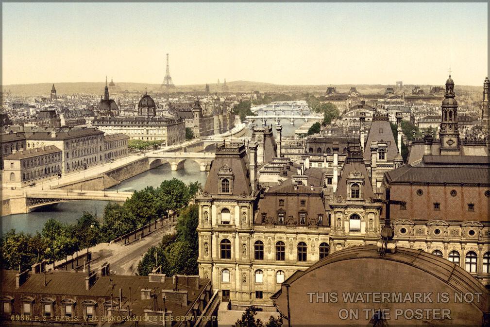 Poster, Molte Misure; Parigi Panorama Of The Seven Bridges Bridges Bridges In 9e7fab