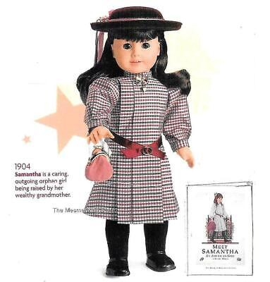 Retired Pleasant Company American Girl Doll Samantha Meet Hat Red Velvet